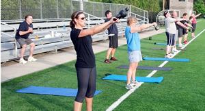 Kettlebell swings for Total Human Performance