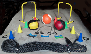Some of the exercise equipment used by Total Human Performance for functional exercise training amps