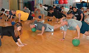 Corporate exercise classes for Total Human Performance